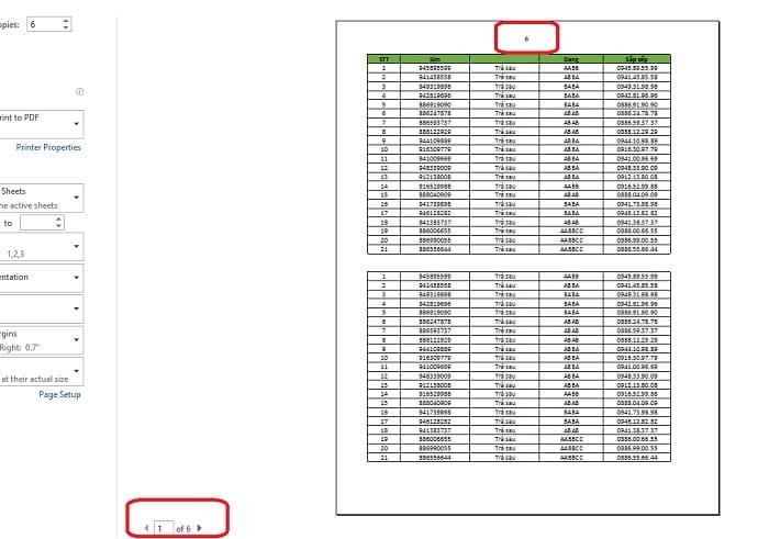 cách đánh số trang trong excel không bắt đầu từ 1 trong excel 2010