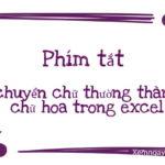 Phím tắt chuyển chữ thường thành chữ hoa trong excel