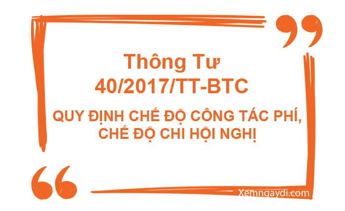 thông tư 40/2017/TT-BTC