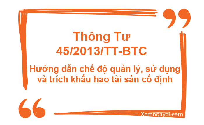 Thông tư 45/2013/TT-BTC