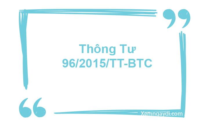 thông tư 96/TT-BTC