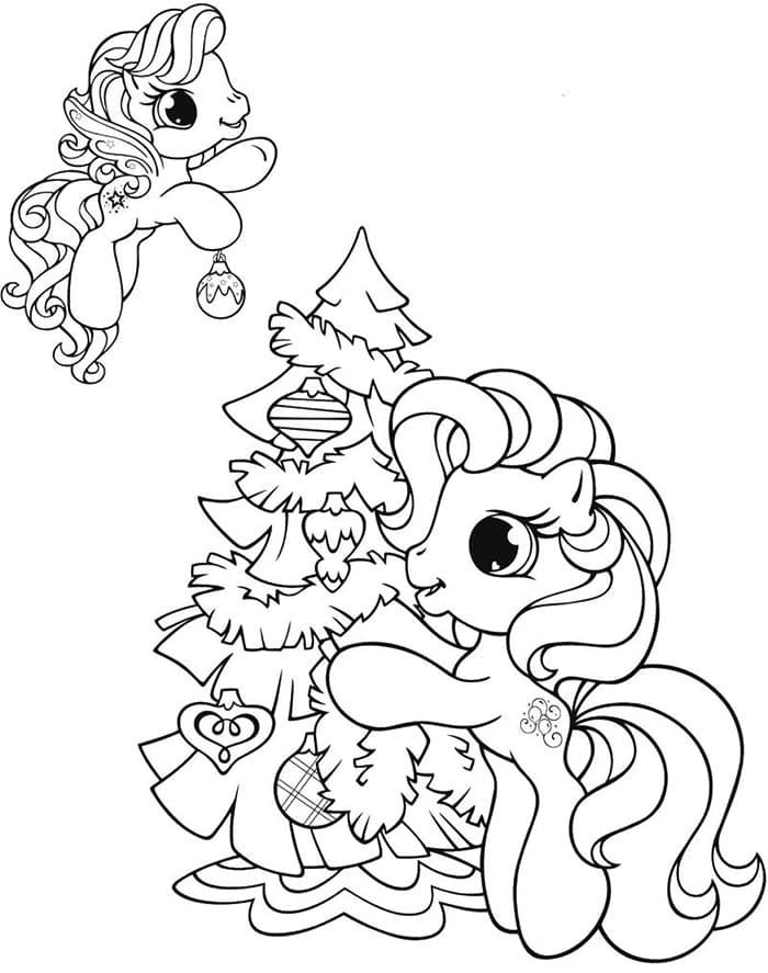 tranh tô màu ngựa pony