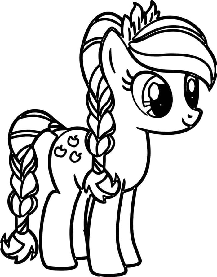 tranh tô màu pony