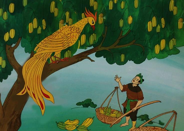 Vẽ tranh minh họa truyện cổ tích cây khế