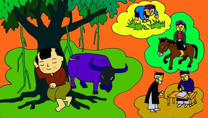 Vẽ tranh minh họa truyện cổ tích chú cuội