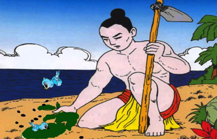Vẽ tranh minh họa truyện cổ tích mai an tiêm