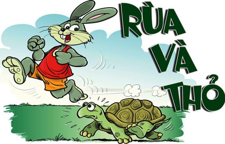 Vẽ tranh minh họa truyện cổ tích rùa và thỏ