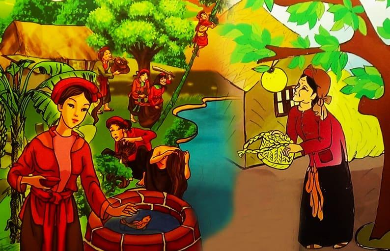 Vẽ tranh minh họa truyện cổ tích tấm cám