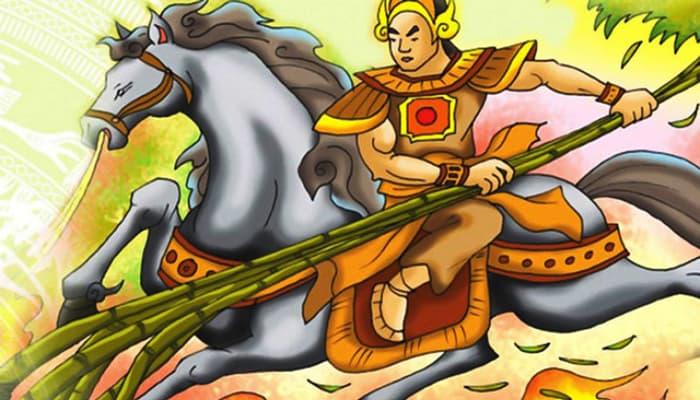 minh họa truyện cổ tích thánh gióng