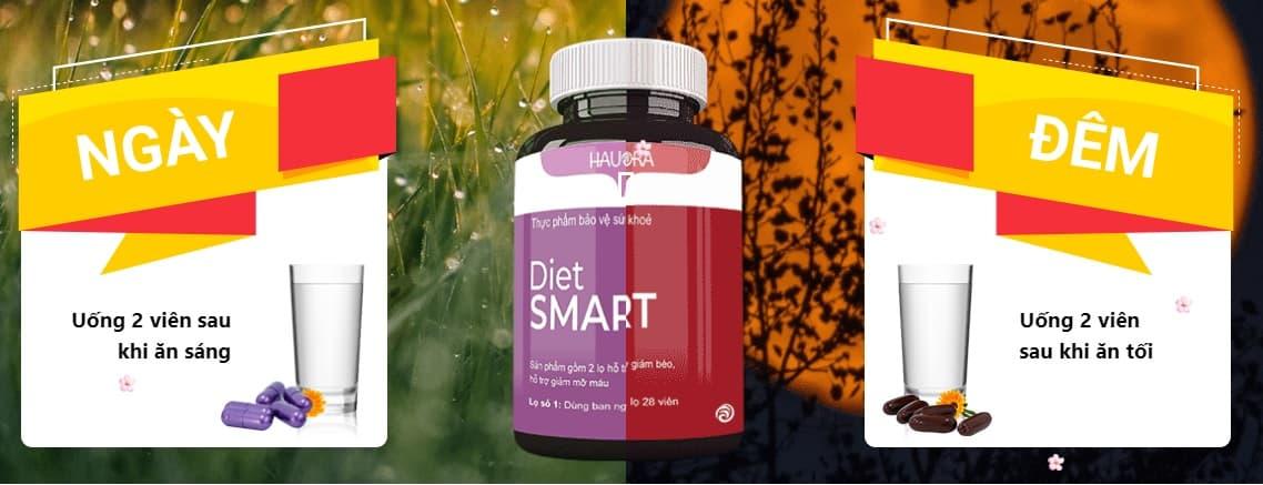 Sử dụng viên uống giảm cân Diet Smart